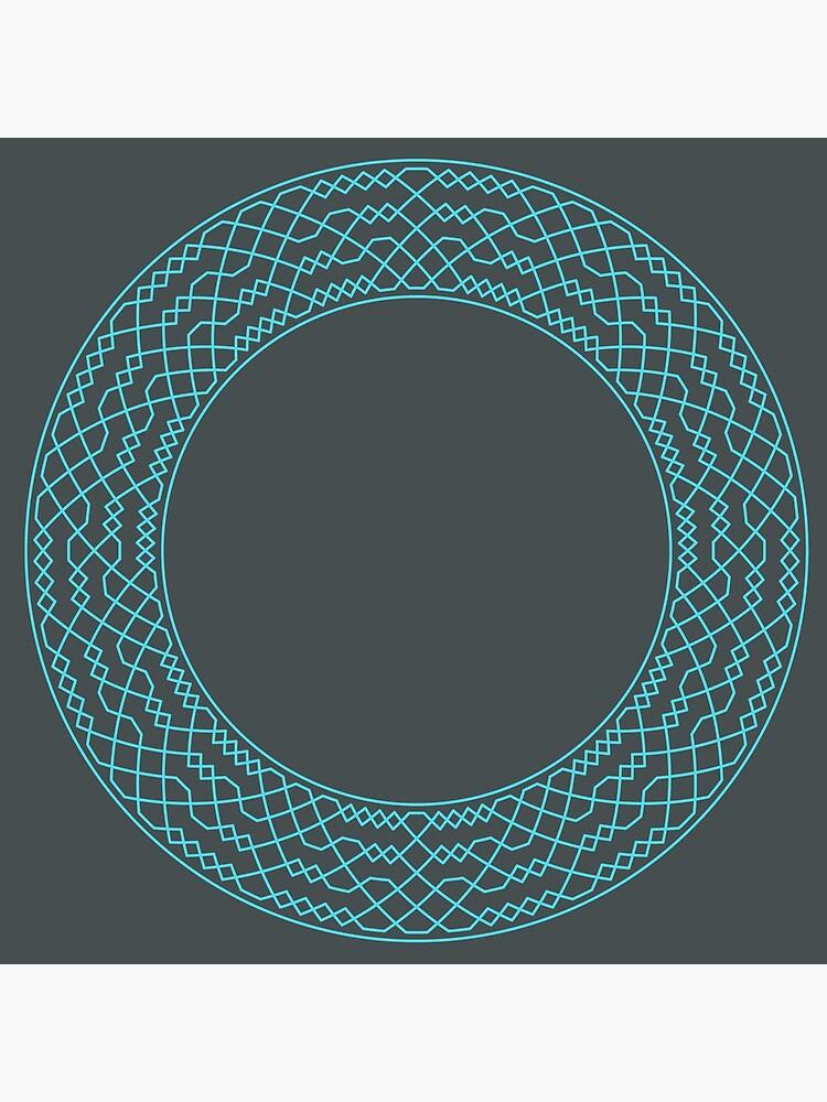 Double Norwich Court Bob Major Method Wreath — Clock (Blue) by RingingRoom