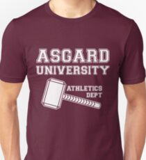 Asgard University - Athletics Department (Dark Shirt) T-Shirt