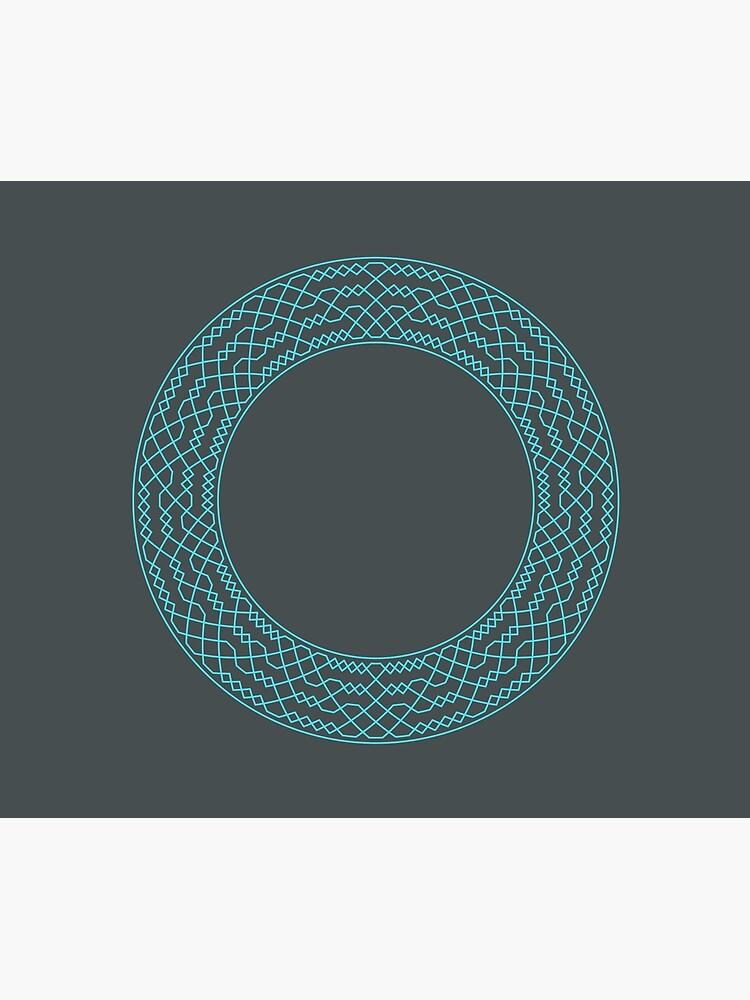 Double Norwich Court Bob Major Method Wreath — Blanket (Blue) by RingingRoom