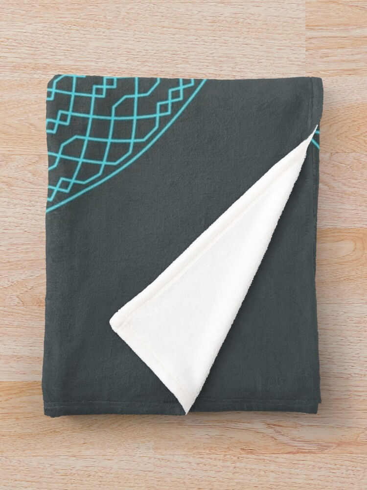 Alternate view of Double Norwich Court Bob Major Method Wreath — Blanket (Blue) Throw Blanket