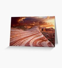 The Fire Wave Greeting Card