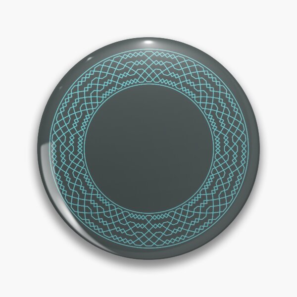Double Norwich Court Bob Major Method Wreath — Pin (Blue) Pin
