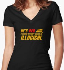 He's Read Jim A Rescue Attempt Would Be Illogical Women's Fitted V-Neck T-Shirt