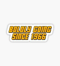 Boldly Going Since 1966 Sticker