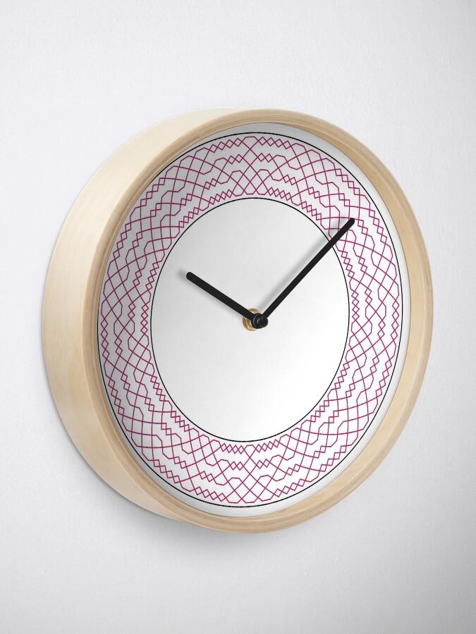 Alternate view of Double Norwich Court Bob Major Method Wreath — Clock (Red) Clock