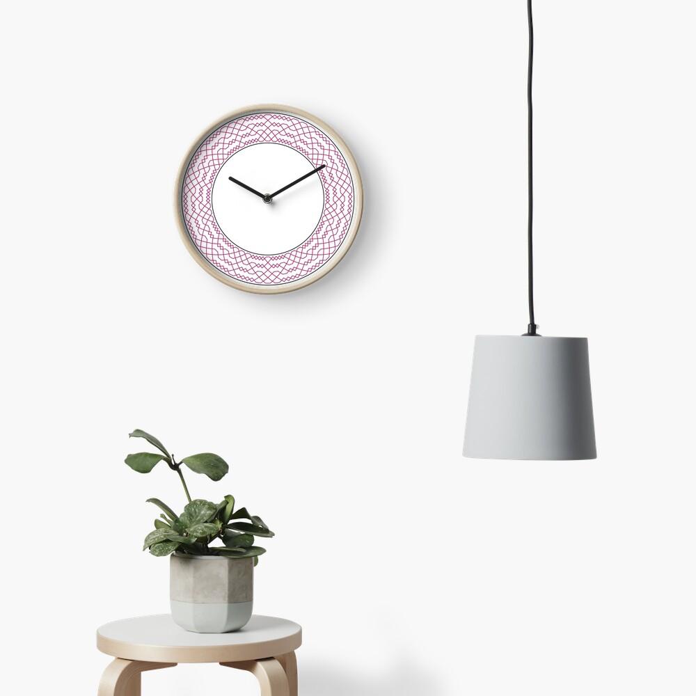 Double Norwich Court Bob Major Method Wreath — Clock (Red) Clock