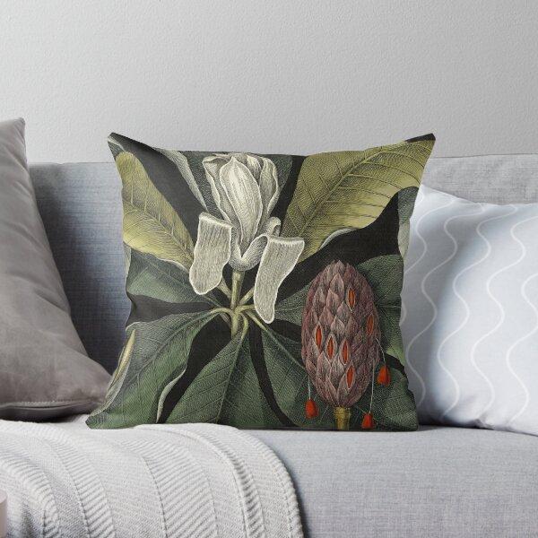 Vintage Tropical Umbrella Tree Throw Pillow