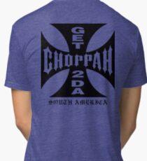 GET 2 DA CHOPPAH (Black) Tri-blend T-Shirt