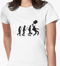 EVOLUTION OF ROCK Women's Fitted T-Shirt