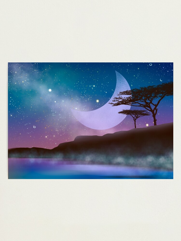 Alternate view of Magical night by the lake Photographic Print