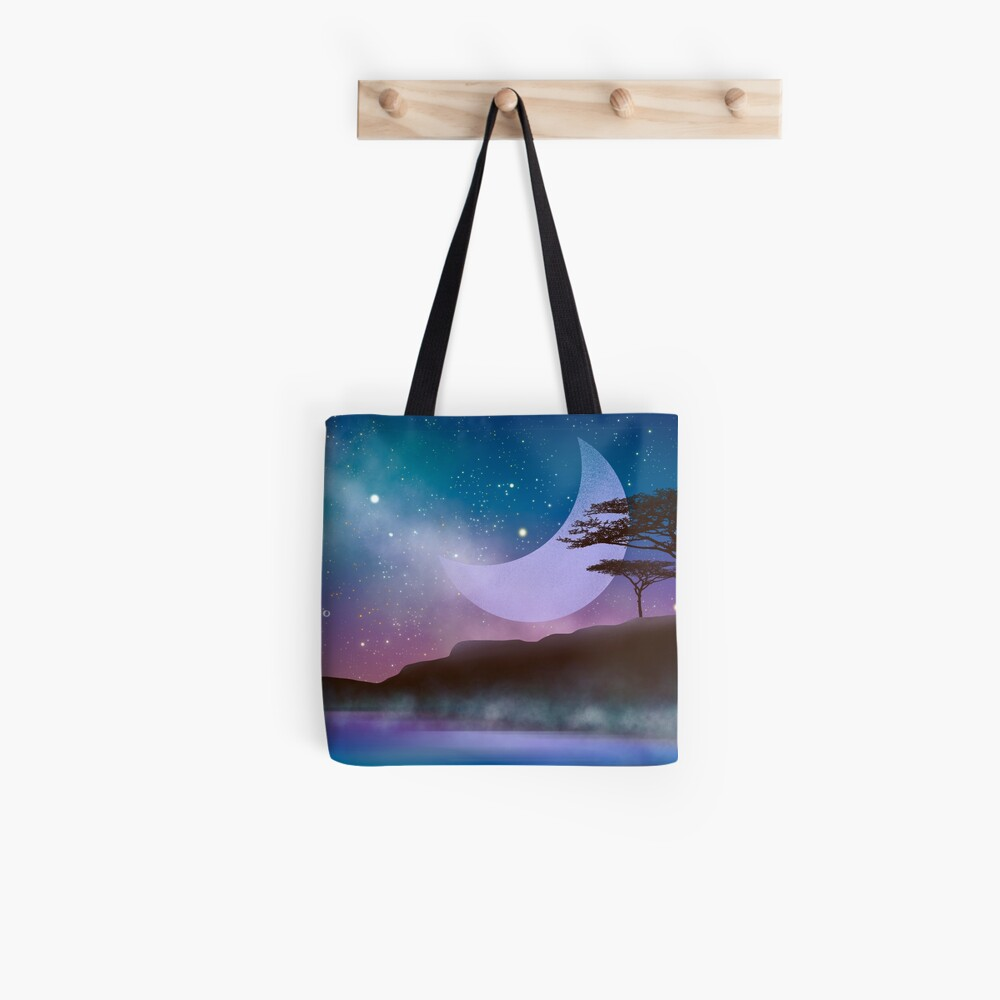Magical night by the lake Tote Bag