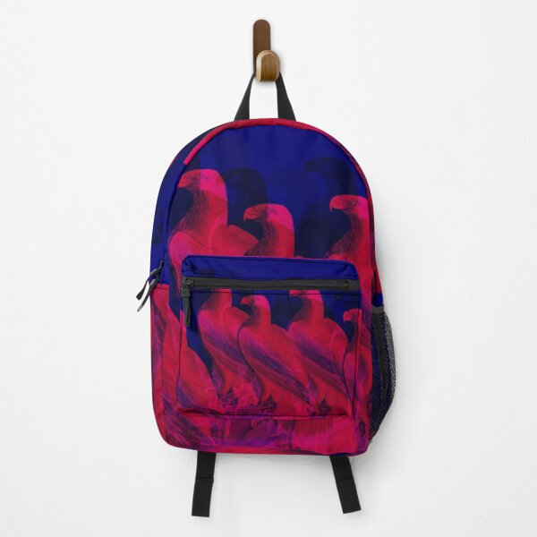 Pink and blue. A buzzard family shines in bright colors. A wonderful design for all bird lovers and art fans.
