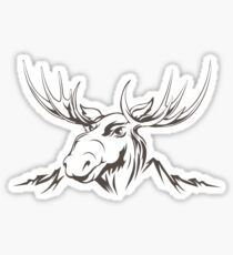 Moose head Sticker