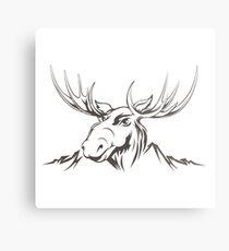 Moose head Metal Print