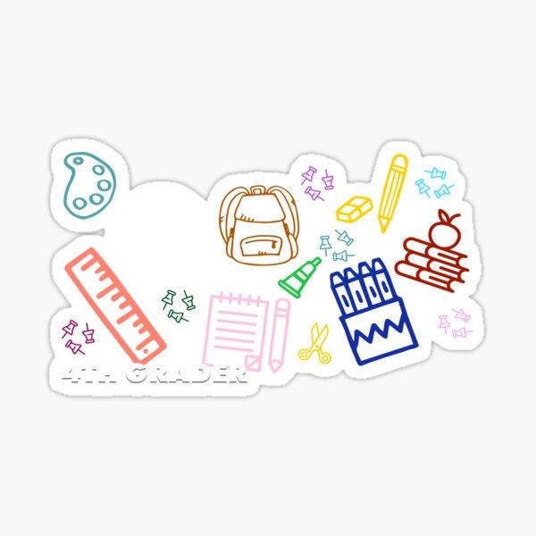 Fourth Grader - Black Sticker