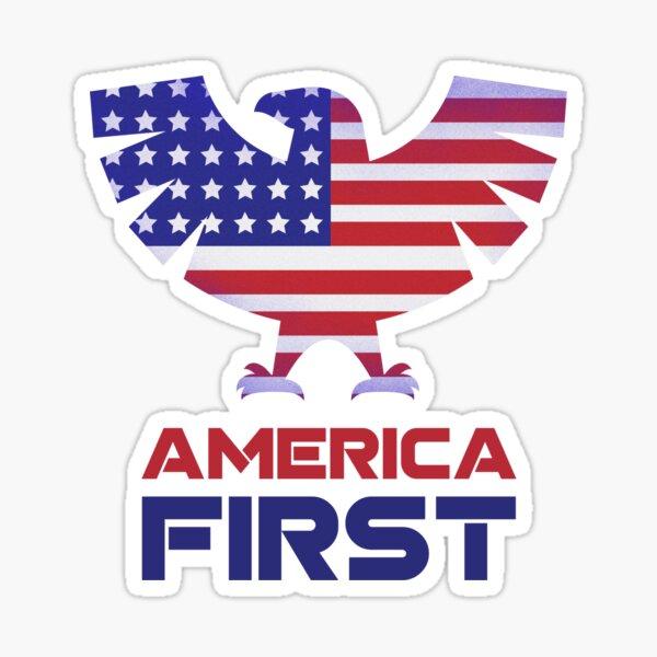 America First Eagle patriotic Sticker