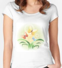 sprouts and butterflies Women's Fitted Scoop T-Shirt