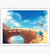 Sonic the Hedgehog Fan Art - Boom Sonic & Tails Sticker