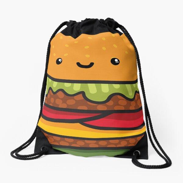 burger Drawstring Bag