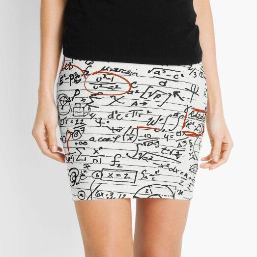 Math Geek Handwritten Notes Mini Skirt