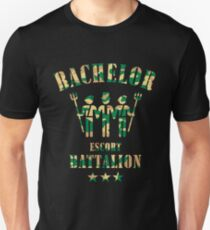 Bachelor Escort Battalion (Stag Party / Camouflage) T-Shirt