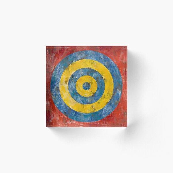 Target -  Jasper Johns Acrylic Block