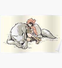 Petite Rouge en le Loup  Poster