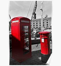 Post Box Phone box Poster
