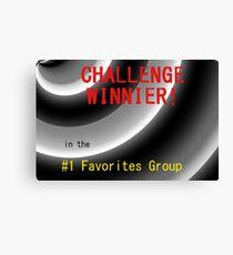 Challenge Winner Canvas Print