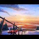 Red Fox's Wintry Sunrise by MylaFox