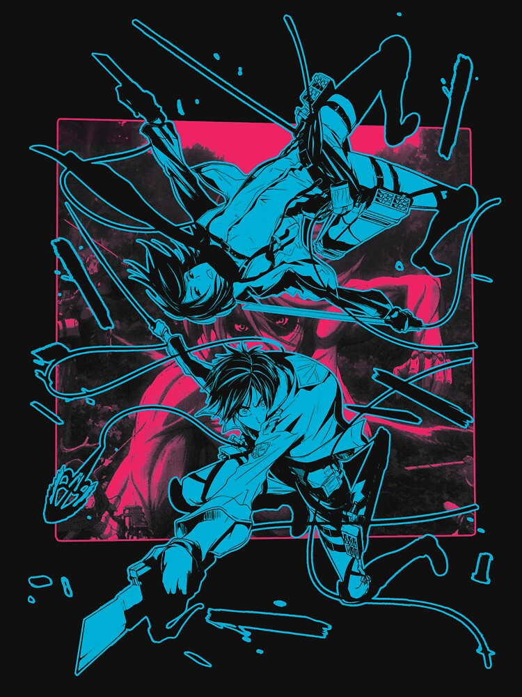 Eren / Mikasa (light) by geekingink