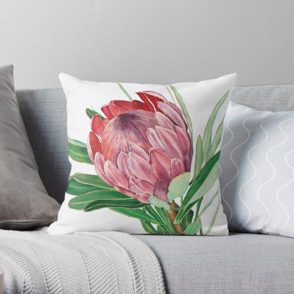 Aquarell Protea Blume Dekokissen