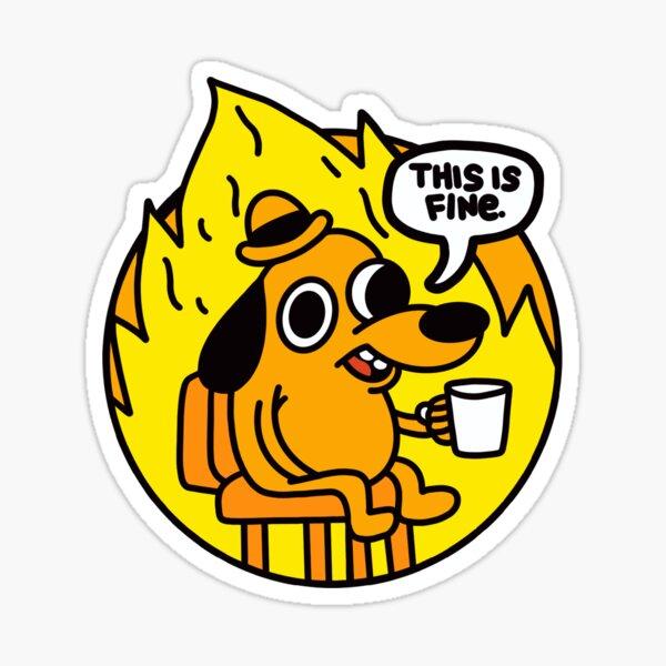 Das ist Fine Doggo | Das ist Fine Dog | Dies ist Fine Meme - Pink Background Sticker