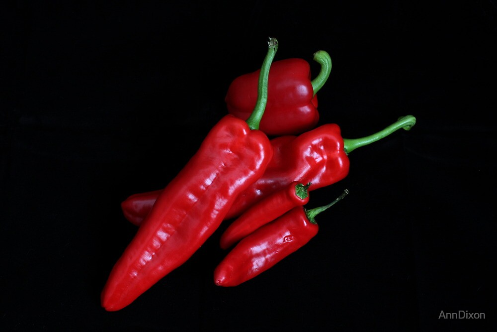Five Red Peppers by AnnDixon