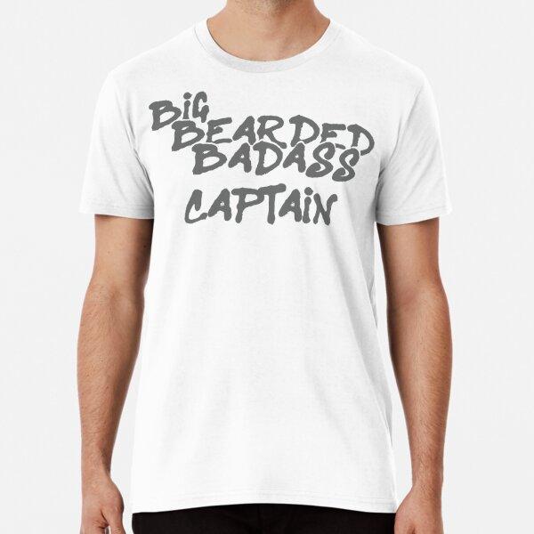 Big Bearded Badass Captain Premium T-Shirt