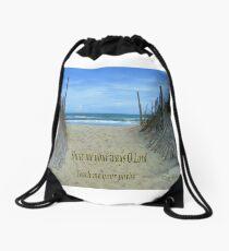 Show Me Your Ways O Lord Drawstring Bag