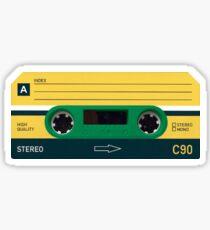 Greeen Cassette Sticker