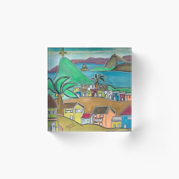 Rio City of love  Acrylic Block
