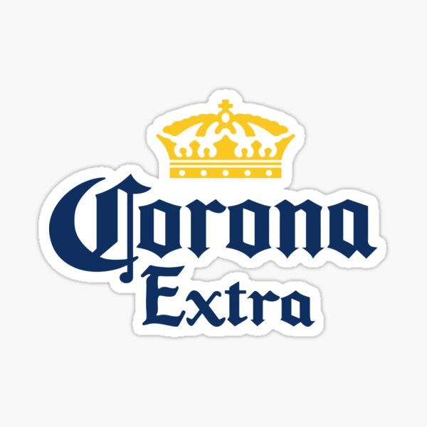 Corona Beer Funny Parody - Cool Motorcycle Or Funny Helmet Stickers And Bikers Gifts  Sticker