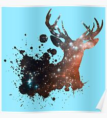 Space Stag Poster