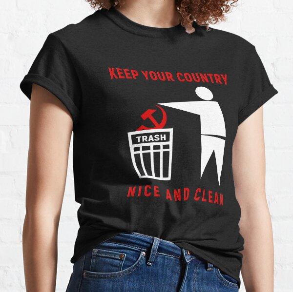 Mantenga su país agradable y limpio Camiseta clásica