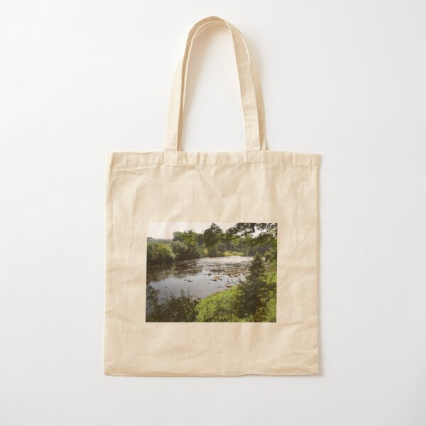 Merch #94 -- Stream Between Trees - Shot 3 (Hadrian's Wall) Cotton Tote Bag