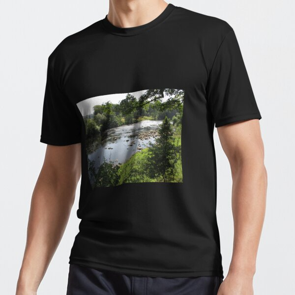 Merch #94 -- Stream Between Trees - Shot 3 (Hadrian's Wall) Active T-Shirt