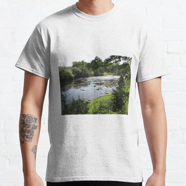 Merch #94 -- Stream Between Trees - Shot 3 (Hadrian's Wall) Classic T-Shirt