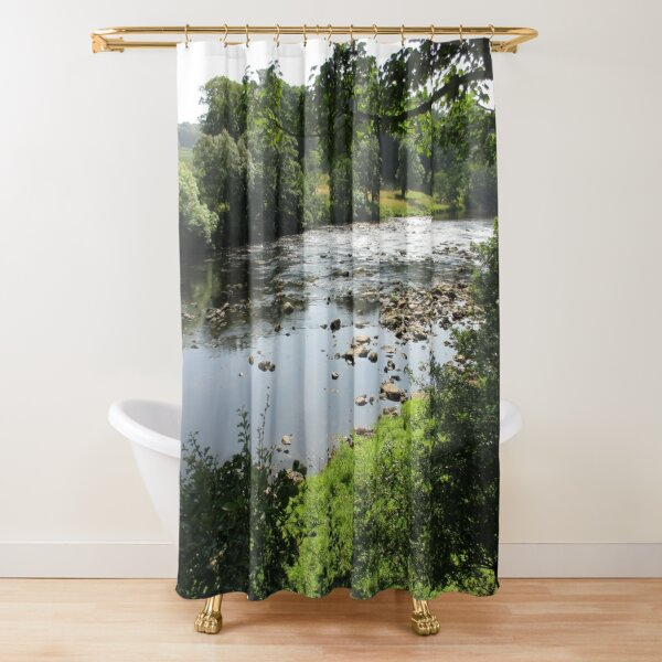 Merch #94 -- Stream Between Trees - Shot 3 (Hadrian's Wall) Shower Curtain