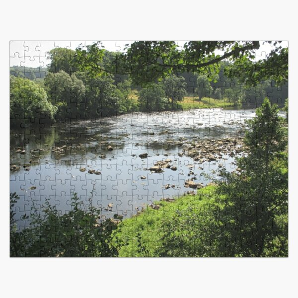 Merch #94 -- Stream Between Trees - Shot 3 (Hadrian's Wall) Jigsaw Puzzle