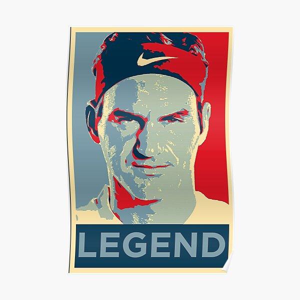 Roger Federer Legend Diseño de retrato Póster