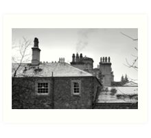 Abbotsford House in the winter Art Print