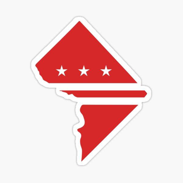 Washington DC flag map Sticker
