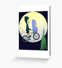 Beavis and Butthead ET Greeting Card